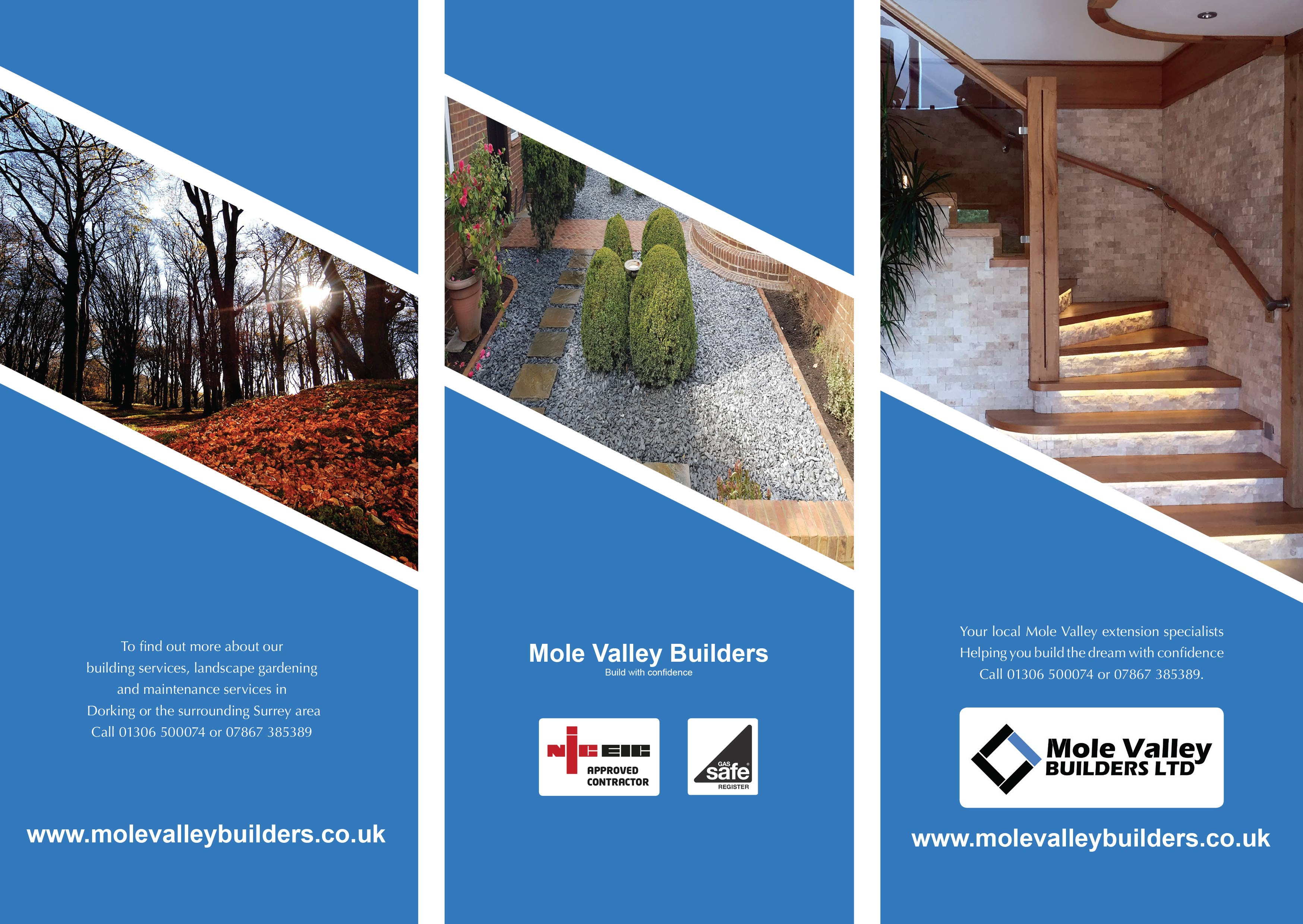print image Mole Valley Builders leaflet