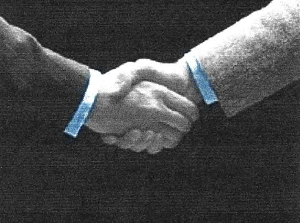 Handshake when all are in agreement