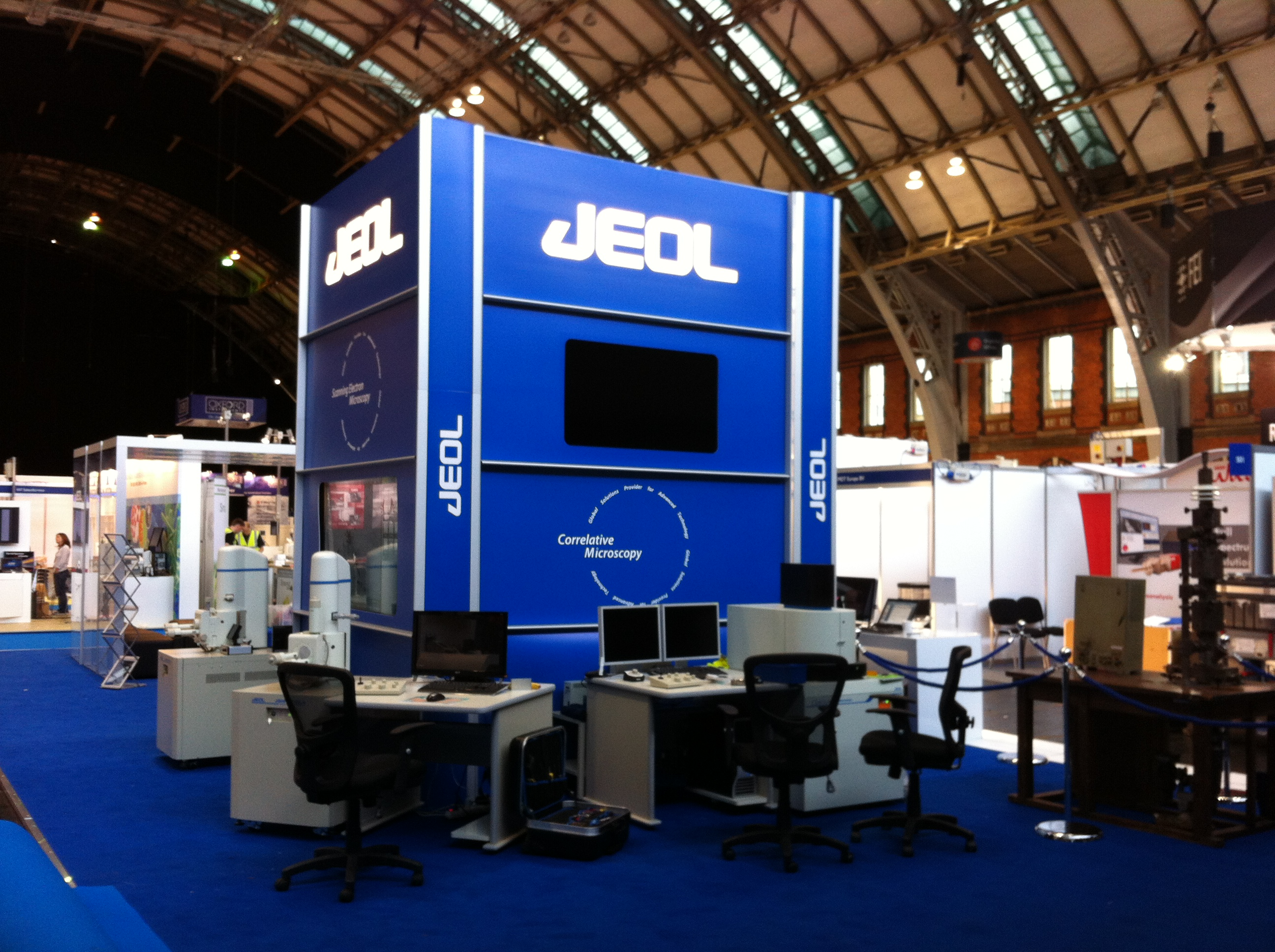 Client stand design for major exhibition